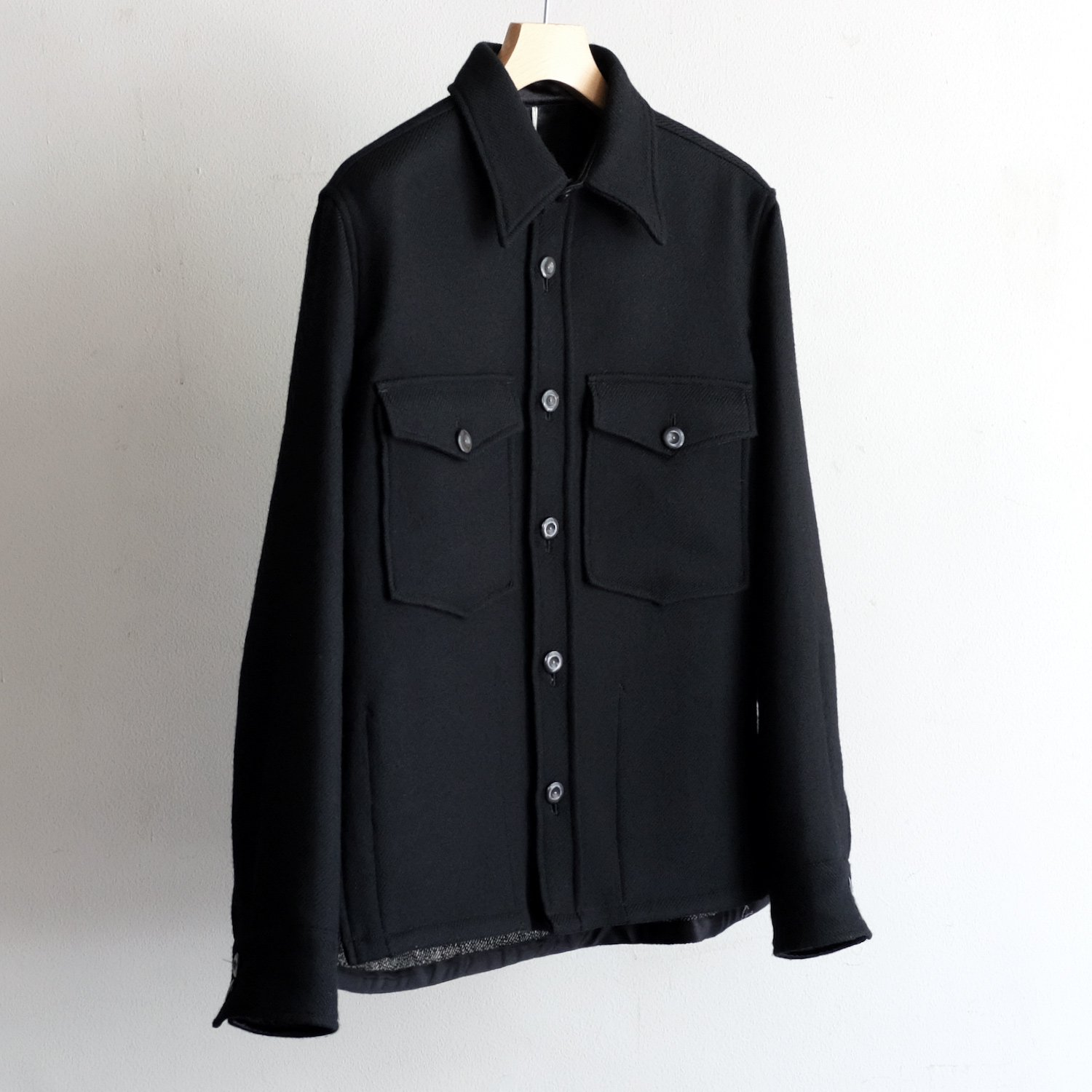 CPO SHIRTS JACKET [BLACK / GRAY DEAD STOCK DOUBLE FACE]