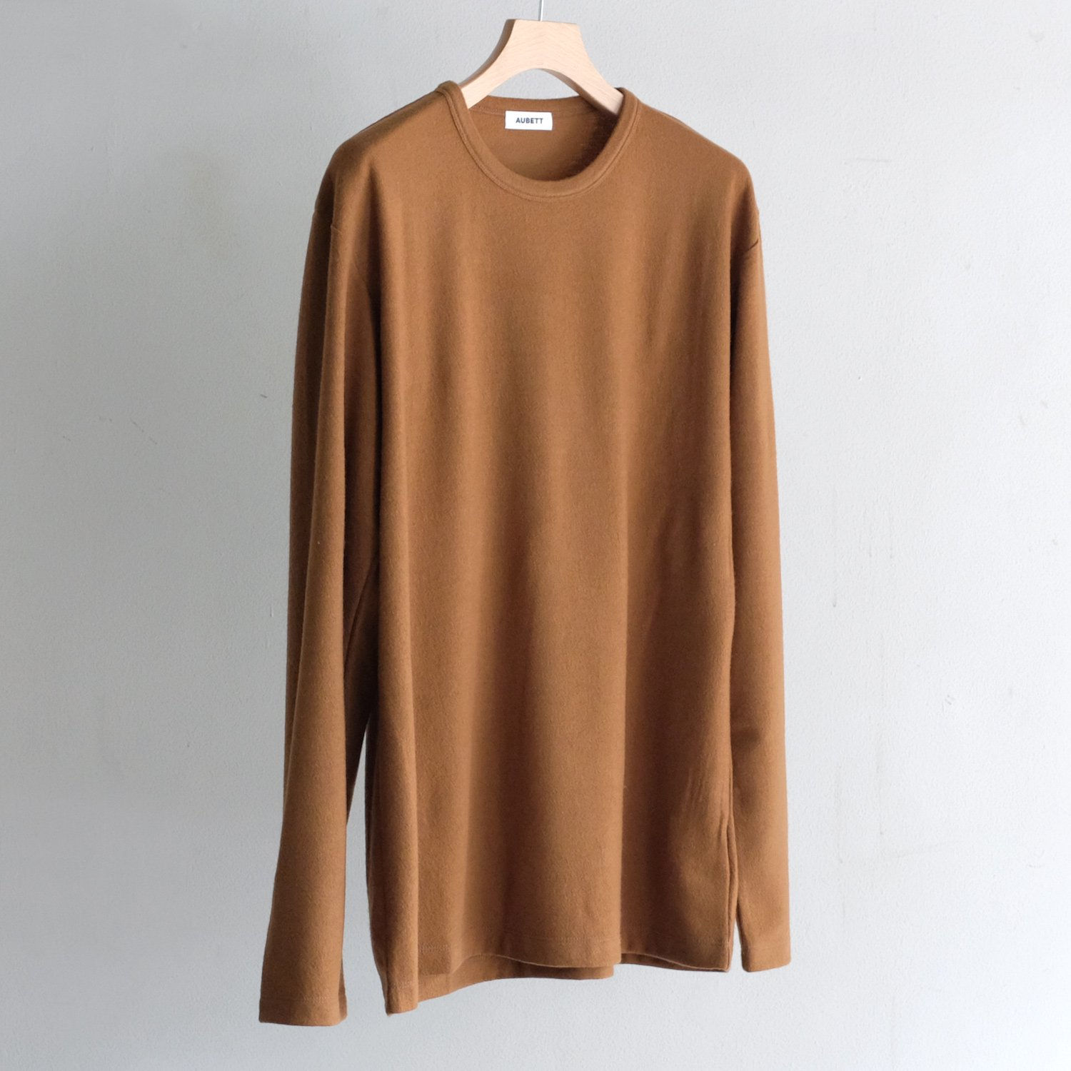 WOOL JERSEY CREW NECK OVER L/S [VICUNA]