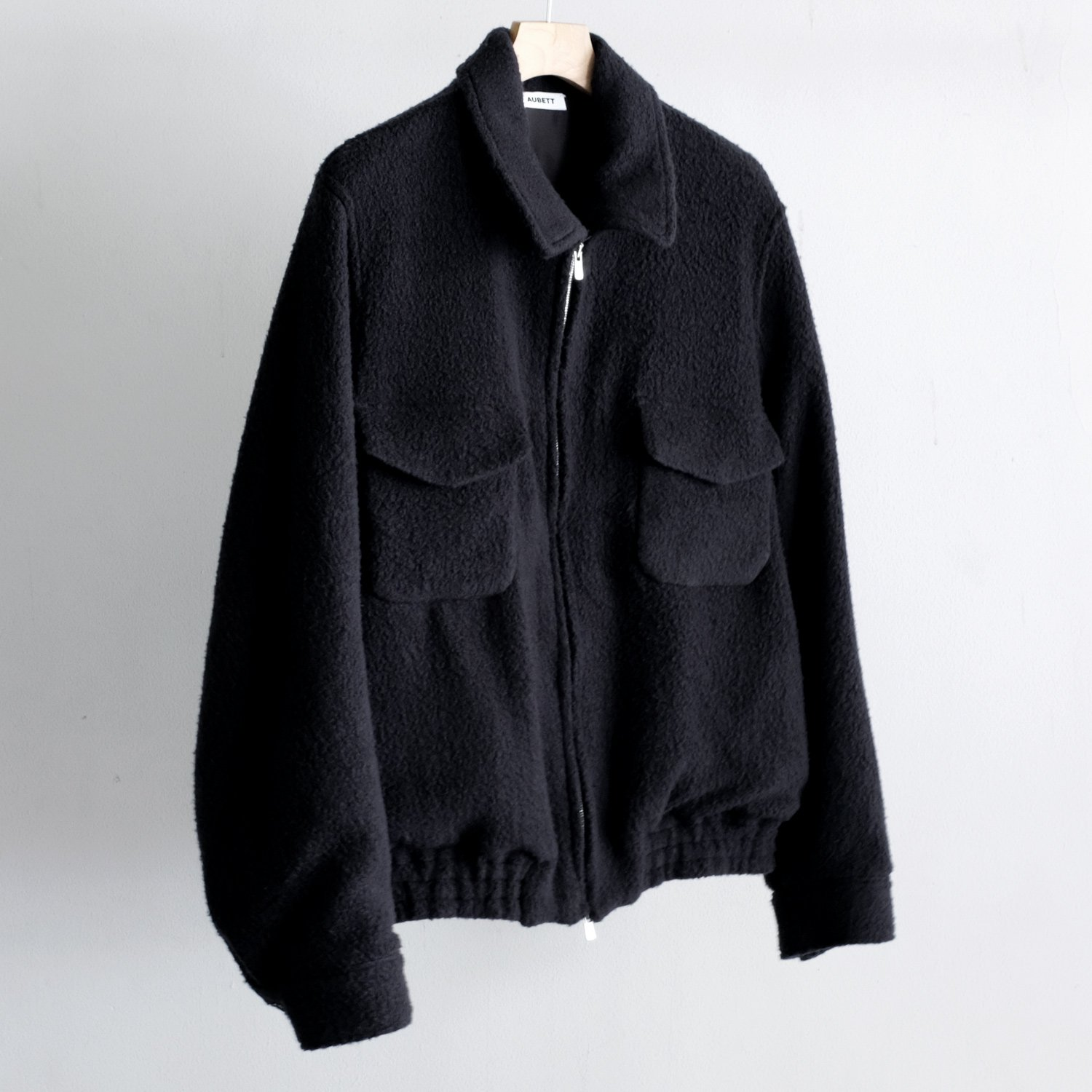 WOOL BOA ZIP UP JACKET [DEEP NAVY]