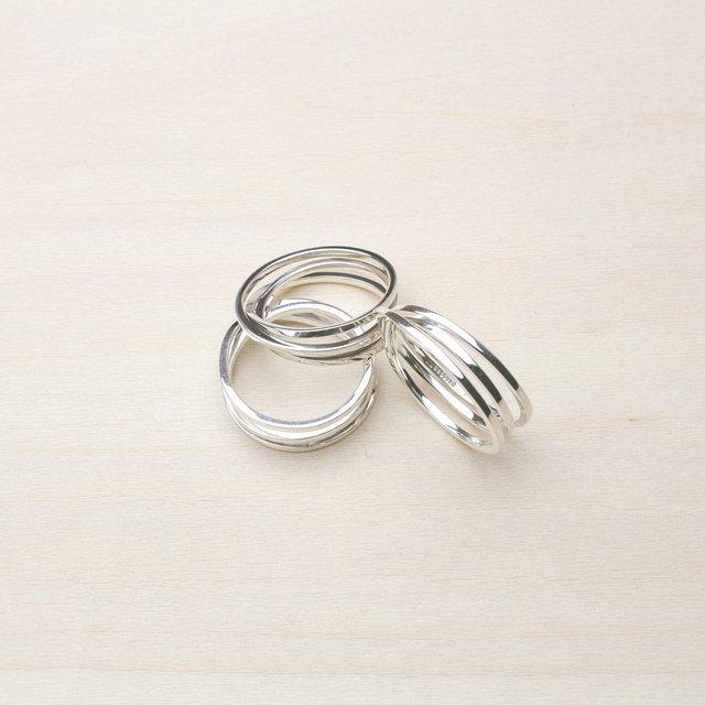 BAND TRIPLE RING [PLATINUM]