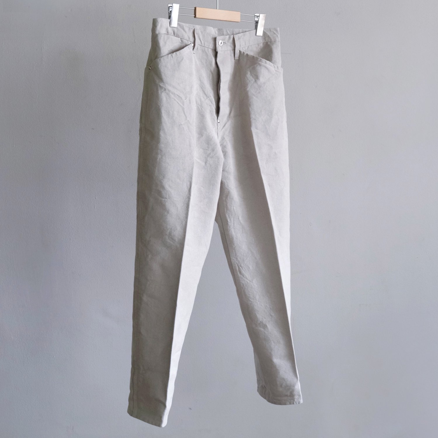 LINEN CANVAS WORK TROUSERS [NATURAL]