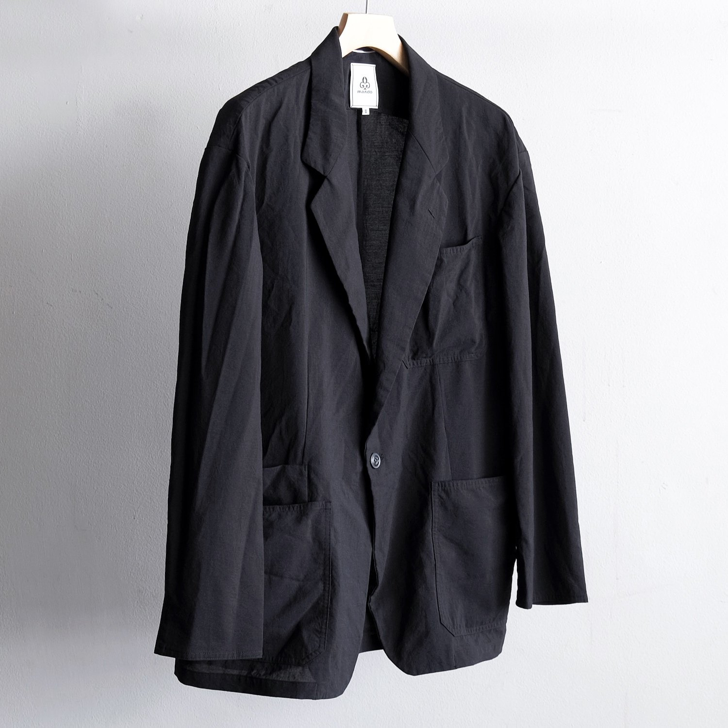 RAMIE MIXED 1B JACKET [BLACK]