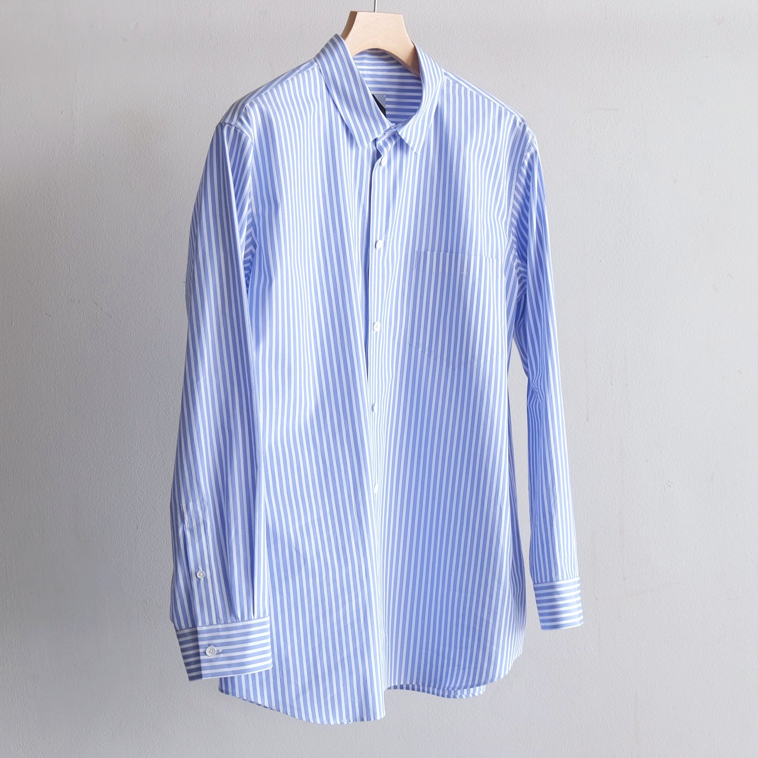 GIZA OVERSIZED SHIRT [BLUE STRIPE]