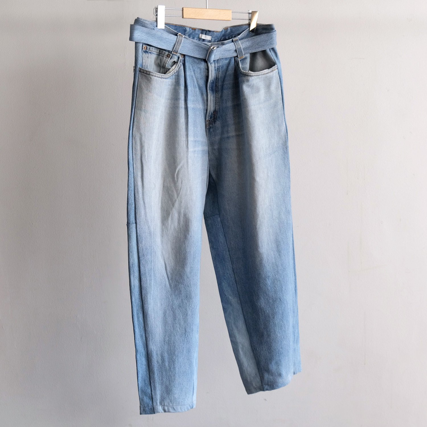 RECONSTRUCTED BUGGY DENIM [BLUE DENIM]