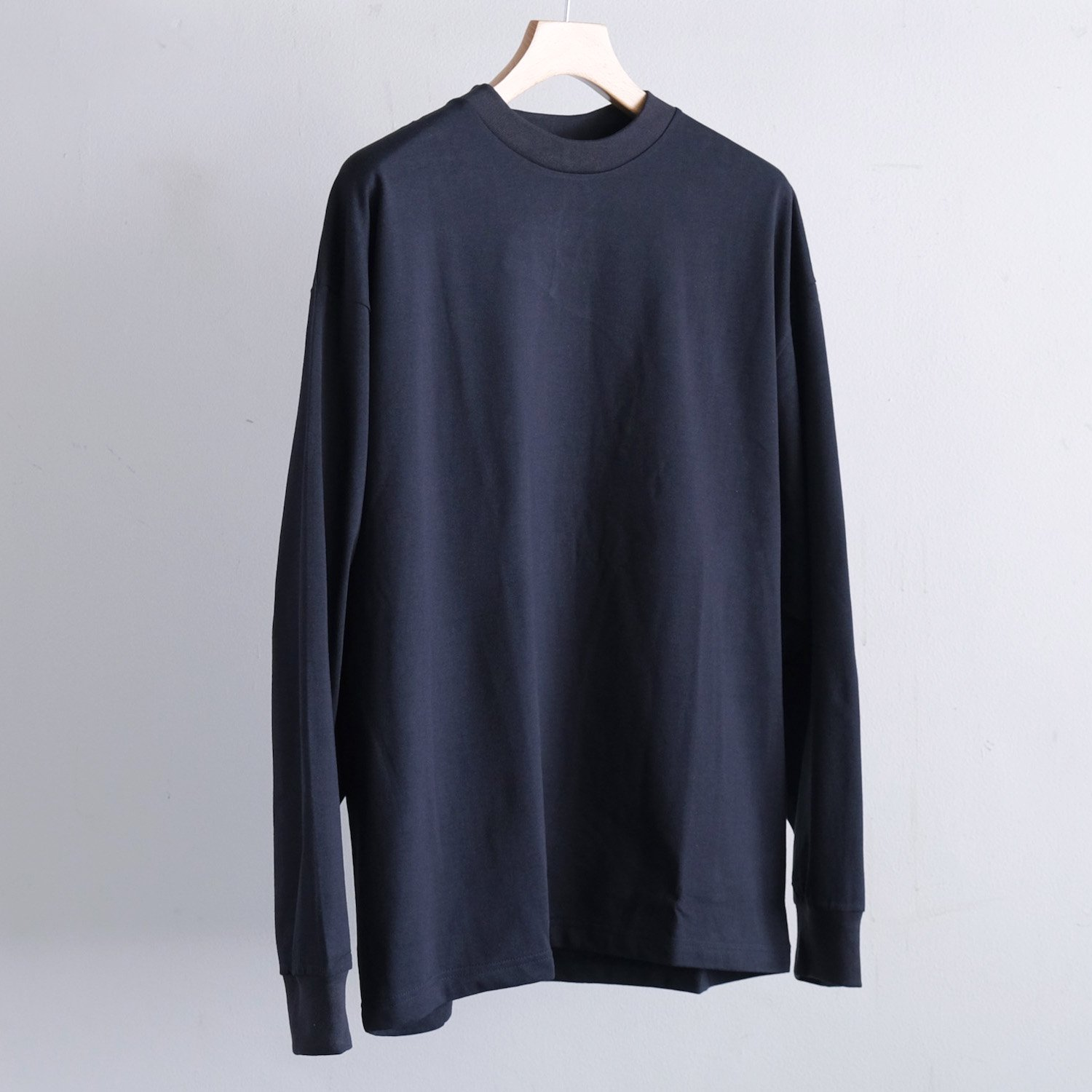 OPEN END GIZA STANDARD L/S T-SHIRTS [NAVY]