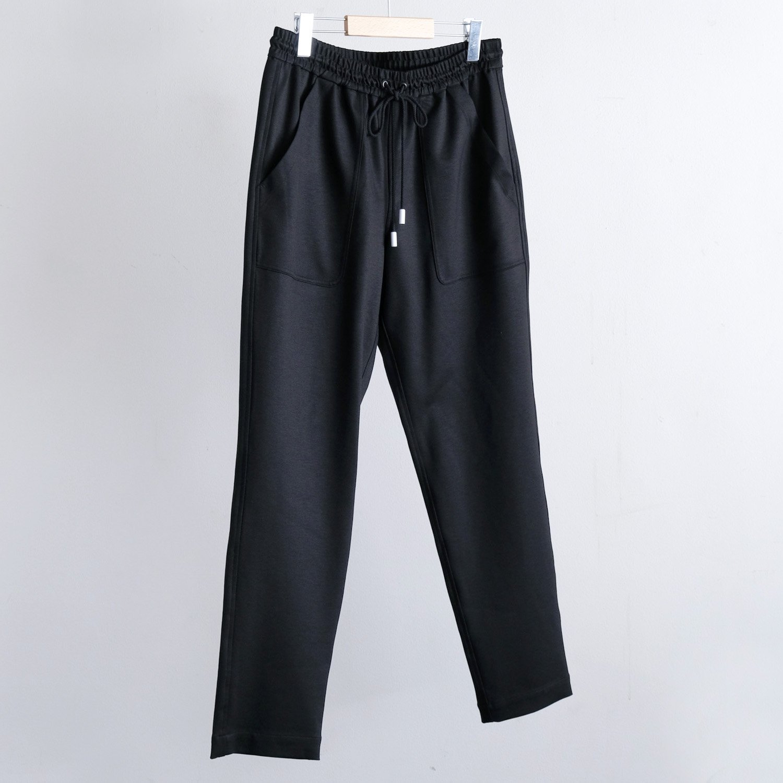STRETCH DOUBLE BAKER PANTS [BLACK]