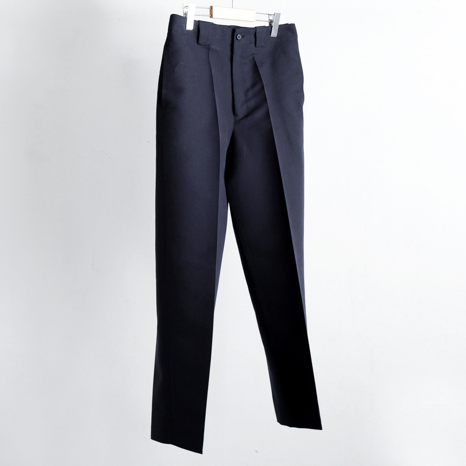 COTTON  WOOL SILK DOUBLE CLOTH BUGGY TROUSERS [DEEP NAVY]