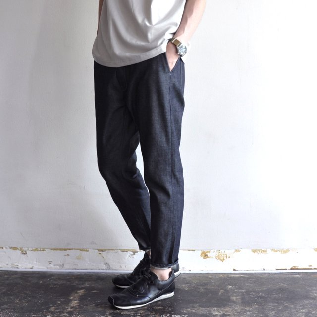 SUPIMA COTTON SELVEDGE DENIM PANTS [INDIGO]