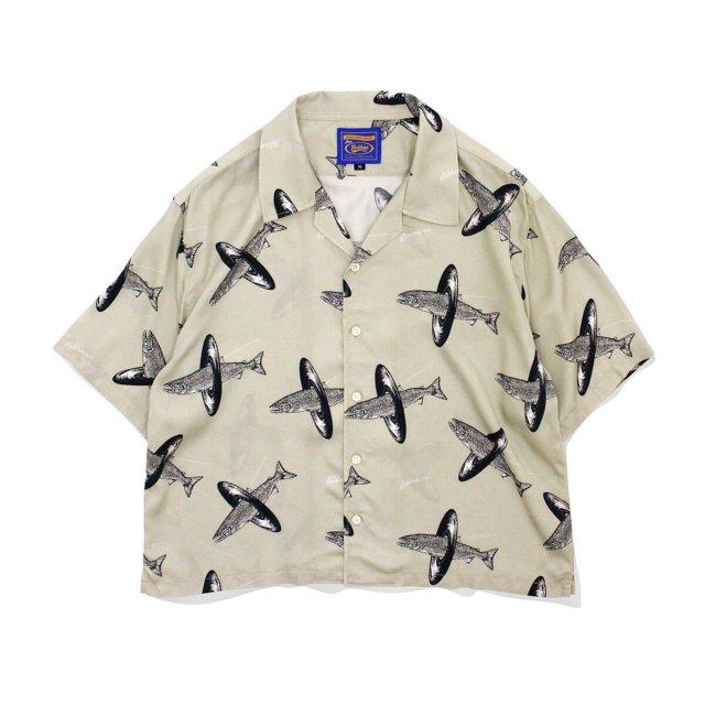 ROKKAN O.C.EXTRA_Short Length Open Collar Shirt.(Fish Record)