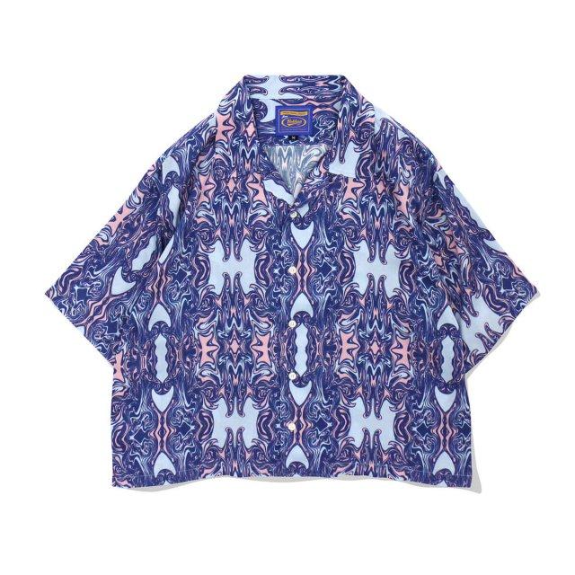 ROKKAN O.C.EXTRA_Short Length Open Collar Shirt.(MARBLE)