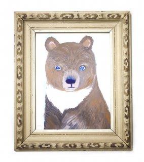 「クマの肖像-4(ミヤハラヨウコ)」