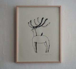 「鹿と鳥(ミヤギユカリ)」