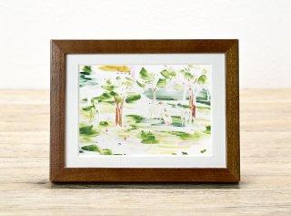 秋元譲「ボルゾイと林檎の木」