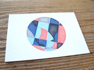 長田哲「Floating Head(Circle / Matrix)」