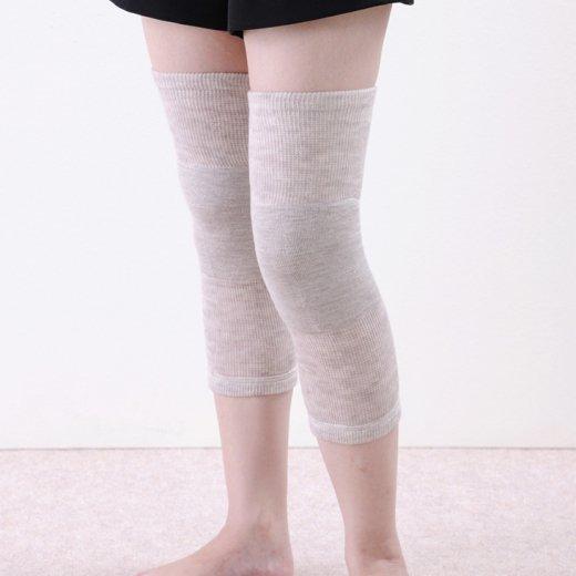 超ゆったりひざ用パイル編みサポーター(メリノウール)