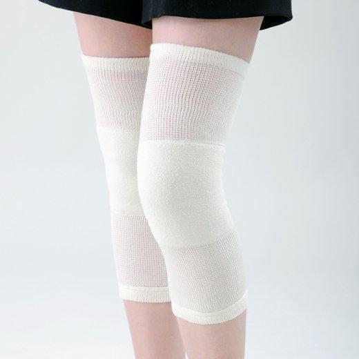 超ゆったりひざ用パイル編みサポーター(シルク混タイプ)
