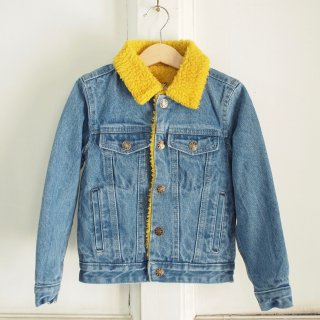 <img class='new_mark_img1' src='//img.shop-pro.jp/img/new/icons12.gif' style='border:none;display:inline;margin:0px;padding:0px;width:auto;' />Sherpa denim Jacket - yellow