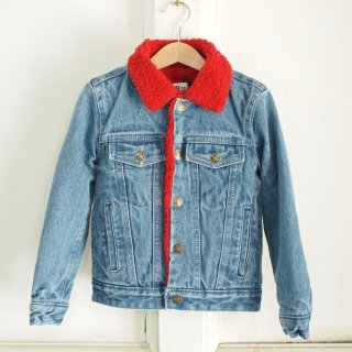 <img class='new_mark_img1' src='//img.shop-pro.jp/img/new/icons12.gif' style='border:none;display:inline;margin:0px;padding:0px;width:auto;' />Sherpa denim Jacket - red