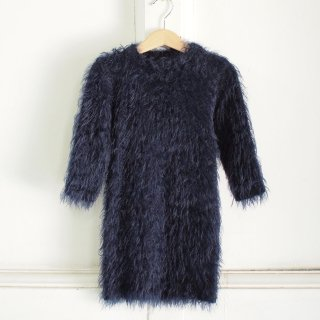 <img class='new_mark_img1' src='//img.shop-pro.jp/img/new/icons20.gif' style='border:none;display:inline;margin:0px;padding:0px;width:auto;' />TEAM FOR A DREAM - long hairy dress - wooly blue