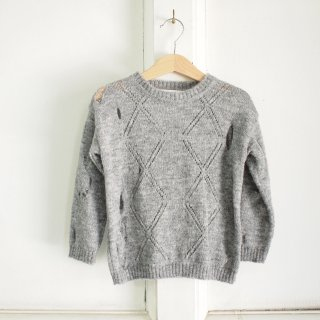 <img class='new_mark_img1' src='//img.shop-pro.jp/img/new/icons20.gif' style='border:none;display:inline;margin:0px;padding:0px;width:auto;' />TAKE A LOOK OFF YOUR FACE - knitted sweater - grey