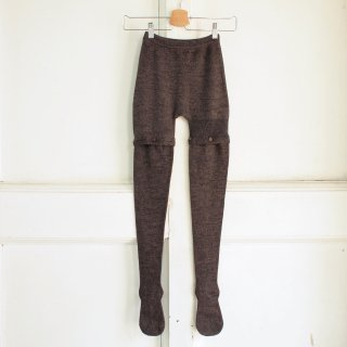 <img class='new_mark_img1' src='//img.shop-pro.jp/img/new/icons12.gif' style='border:none;display:inline;margin:0px;padding:0px;width:auto;' />Button Tights - Merinos / Silk - Dark Brown