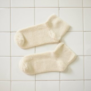 Buckle Ankle Socks Cotton - Off White