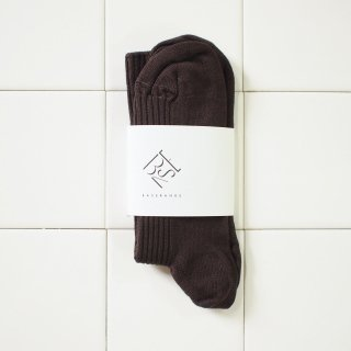 <img class='new_mark_img1' src='//img.shop-pro.jp/img/new/icons20.gif' style='border:none;display:inline;margin:0px;padding:0px;width:auto;' />Rib Ankle Socks - Silk - Dark Brown