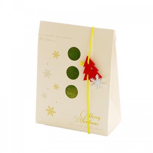 ホワイトクリスマスチャーム付きボックス