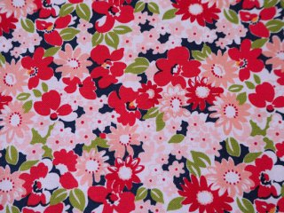 modafabrics 花柄プリント生地 FLOWER GARDEN / NAVY / THE GOOD LIFE