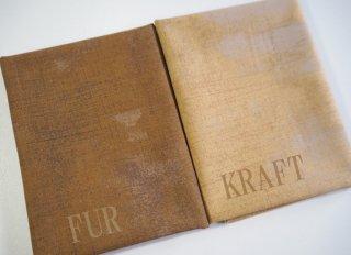 modafabrics グランジ生地 カットクロスセット / FUR&KRAFT ブラウン&イエロー