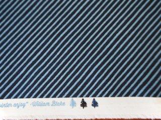 modafabrics ネイビーブルーのストライプ生地 WINTERTIDE / CANDY CANE STRIPE / STORM