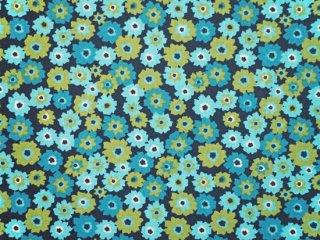 modafabrics スタイリッシュな小花柄プリント生地 ROSA /TARTS / NAVY-BERMUDA