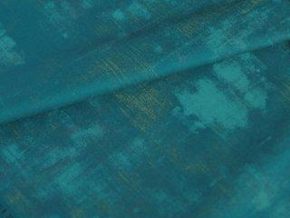 深いターコイズカラーのグランジ生地 ◇ modafabrics ◇ NOVA ◇ GRUNGE / CASCADE