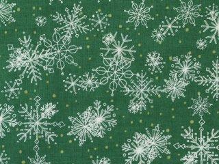 modafabrics ◇ SPLENDID ◇ SNOWFLAKES / PINE ◇ 雪の結晶 ◇ クリスマス◇