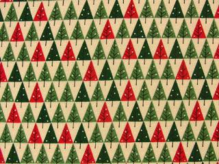 Mini Novelty Christmas /  Cream Christmas Trees