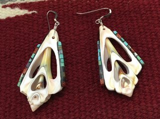 Santodomingo Charlotte Reano Shell Mosaic Inlay Earrings