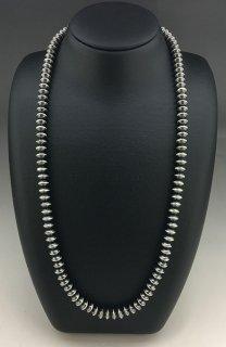 Navajo Sandra Zambroano Silver Beads Necklace