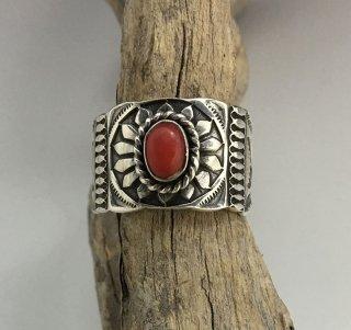 Navajo Gary Reeves Coral Ring