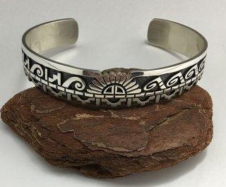 Hopi Lucion Koinva Overlay Cuff Bracelet