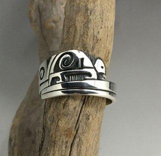 Hopi Sidney Arawnaya Overlay Ring