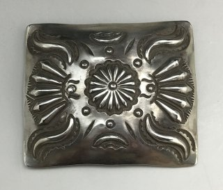 Navajo Elvira Bill Silver Belt Buckle