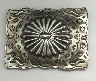 Navajo Julia Smith Silver Belt Buckle