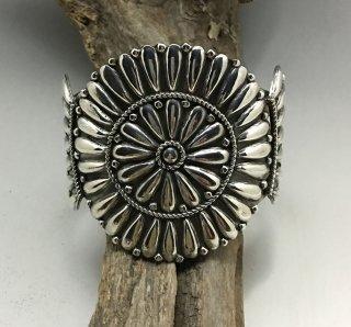 Navajo Melvin Francis Silver Cluster Cuff Bracelet