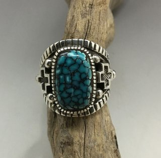 Navajo Erick Begay Blue Wind Turquoise Ring