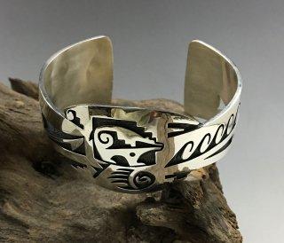 Hopi Trinidad Lucas Overlay Cuff Bracelet
