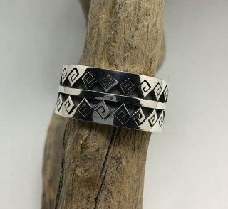 Hopi Darrin Kuwahongva Overlay Ring