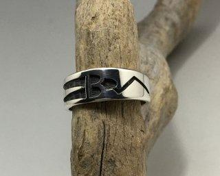 Hopi Leon Lomakema Overlay Ring