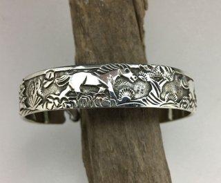 Navajo Lloyd Becenti Overlay Cuff Bracelet