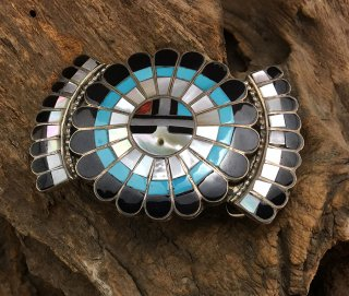 Zuni Jose & Dora Massie Inlay Sun Face Buckle