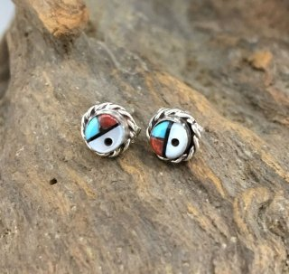 Zuni Inlay Small Earrings